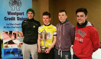 L/R Jordan McGinley, Daire Feeley, David Bordy, Darragh Bailey