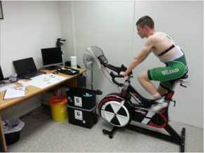 Daire Feeley Undergoing some testing at The Athlete Clinic