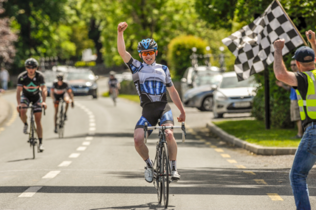 Daire Feeley winning the Donamon Dynamos GP round of the National League Series